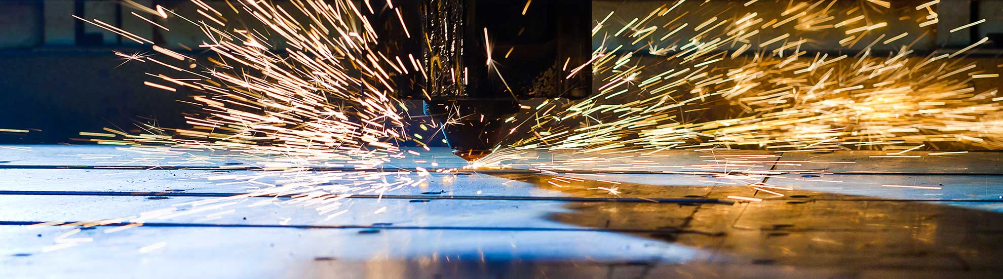 Sparks from a welder